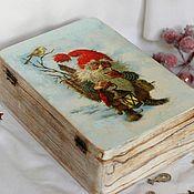 Для дома и интерьера handmade. Livemaster - original item Box Scandinavian gnome nisse solid wood. Handmade.