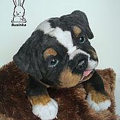 Куклы и игрушки handmade. Livemaster - original item Puppy English Bulldog by name Bruno. Handmade.