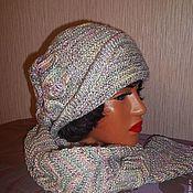 Вязание крючком меланжевая шапочка