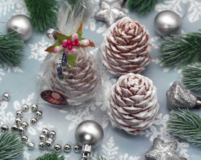 Soap Christmas volumetric Pine cone, Soap, Moscow,  Фото №1