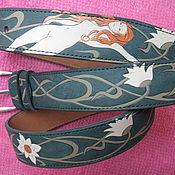 Аксессуары handmade. Livemaster - original item MERMAID and water LILIES, strap leather. Handmade.
