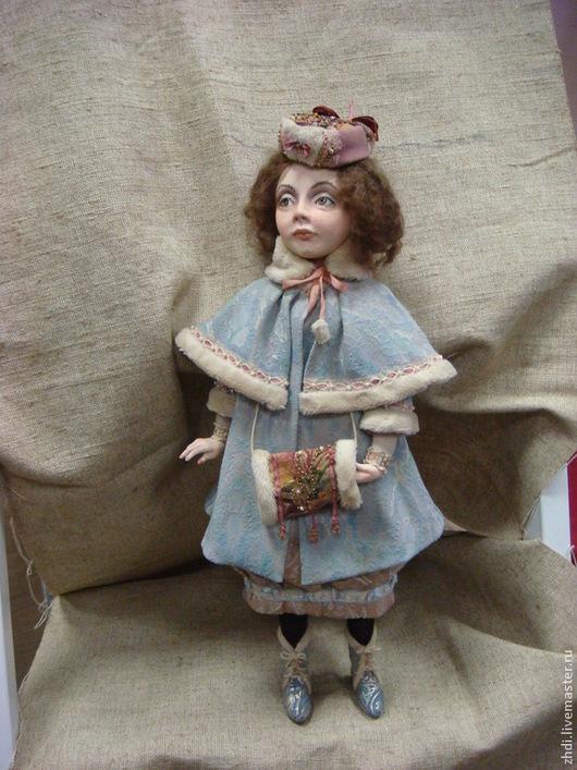"""Коллекционные куклы ручной работы. Ярмарка Мастеров - ручная работа. Купить Авторская кукла """" Ася"""". Handmade. Голубой"""