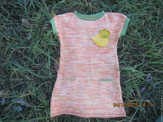 """Одежда для девочек, ручной работы. Ярмарка Мастеров - ручная работа. Купить вязаная туника для девочки""""Меланж"""". Handmade. Разноцветный, вязаная туника"""