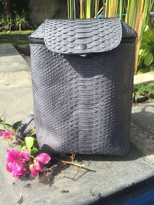Рюкзаки ручной работы. Ярмарка Мастеров - ручная работа. Купить Рюкзак из кожи питона. Стильный рюкзак. Рюкзак из натуральной кожи. Handmade.