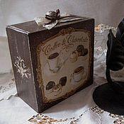 """Для дома и интерьера ручной работы. Ярмарка Мастеров - ручная работа Короб """"Кофе и шоколад"""". Handmade."""