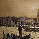 """Пейзаж ручной работы. Ярмарка Мастеров - ручная работа. Купить Пейзаж """"Венеция. Прогулка по каналам на закате"""". Handmade. Разноцветный"""
