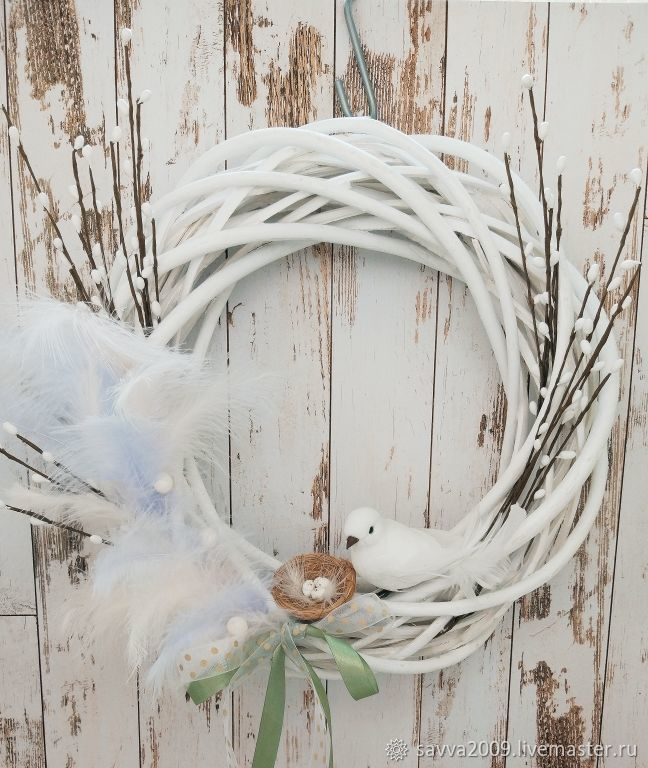 Easter Gifts handmade. Livemaster - handmade. Buy Wreath Easter decorative Easter Easter decor.Bird, Easter souvenir
