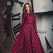 Одежда ручной работы. Ярмарка Мастеров - ручная работа Длинное платье из костюмной вискозы. Handmade.