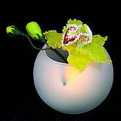 Украшения ручной работы. Ярмарка Мастеров - ручная работа Орхидея цимбидиум, кулон-брошь и зажим для платка. Handmade.