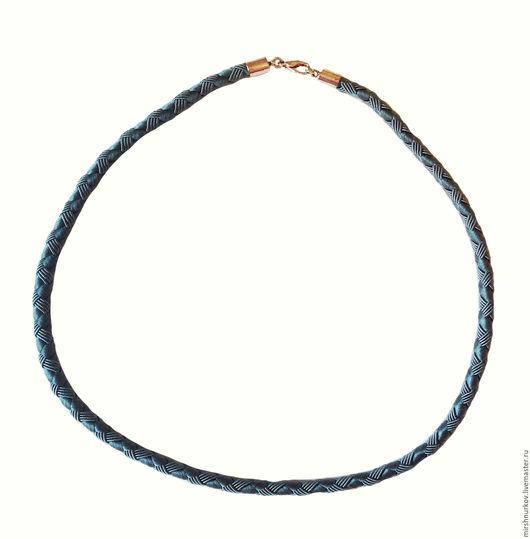 Колье, бусы ручной работы. Ярмарка Мастеров - ручная работа. Купить Шнурок из текстиля 6,0мм. Handmade. Серый, шнурок