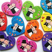 Свадебный салон ручной работы. Ярмарка Мастеров - ручная работа Свадебные магниты ручной работы. Handmade.