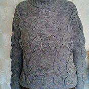 Одежда ручной работы. Ярмарка Мастеров - ручная работа Серый теплый свитер. Handmade.