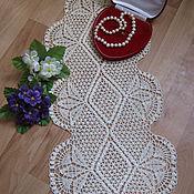 Для дома и интерьера ручной работы. Ярмарка Мастеров - ручная работа Салфетка-дорожка вязаная крючком. Handmade.