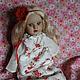 Коллекционные куклы ручной работы. Ярмарка Мастеров - ручная работа. Купить Лайма. Handmade. Фарфоровая кукла, красные губы, опилки