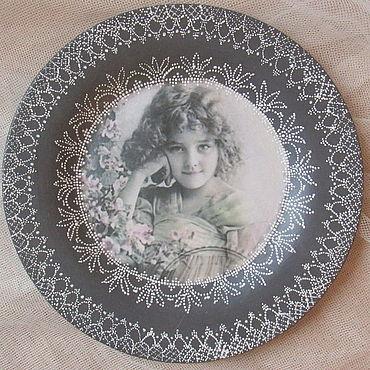 Посуда ручной работы. Ярмарка Мастеров - ручная работа Тарелка декоративная Кружево. Handmade.