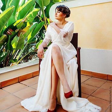 Свадебный салон ручной работы. Ярмарка Мастеров - ручная работа Шелковое свадебное платье. Handmade.