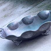 Винтаж ручной работы. Ярмарка Мастеров - ручная работа старинная оловянная овальная ваза. Handmade.