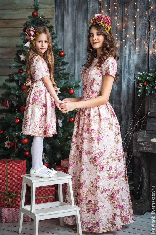 Платья ручной работы. Ярмарка Мастеров - ручная работа. Купить Комплект Family Look № 110. Handmade. Платье