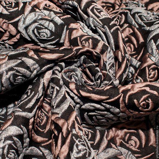 Шитье ручной работы. Ярмарка Мастеров - ручная работа. Купить Жаккард  шелковый CAROLINA HERRERA РОЗЫ. Handmade. Ткани Италии