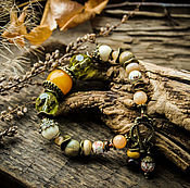 Украшения ручной работы. Ярмарка Мастеров - ручная работа Лимонад - браслет. Handmade.