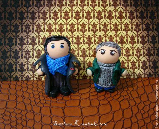 Миниатюра ручной работы. Ярмарка Мастеров - ручная работа. Купить Шерлок Холмс и Джон Ватсон, Sherlock Holmes & John Watson. Handmade.