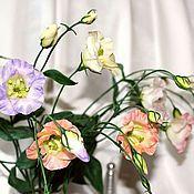 Цветы и флористика ручной работы. Ярмарка Мастеров - ручная работа Эустома (лизиантус) из полимерной глины. Handmade.