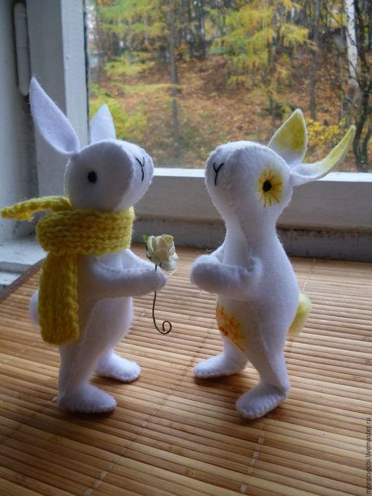 Игрушки животные, ручной работы. Ярмарка Мастеров - ручная работа. Купить Уральские Зайчишки. Handmade. Заяц, фетр, шерсть 100%