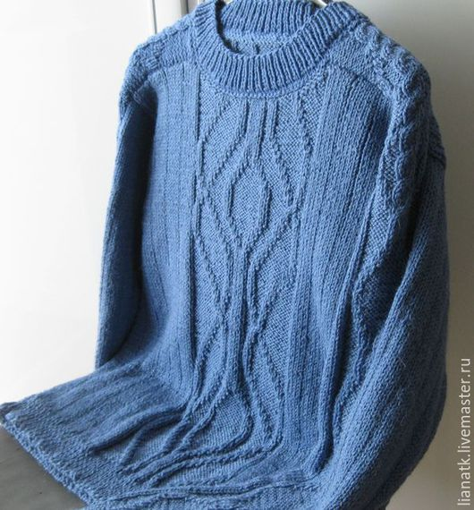 """Кофты и свитера ручной работы. Ярмарка Мастеров - ручная работа. Купить Свитер """"Мужской"""". Handmade. Тёмно-синий, свитер вязаный"""