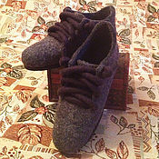 Обувь ручной работы. Ярмарка Мастеров - ручная работа валяные домашние кеды -тапки. Handmade.