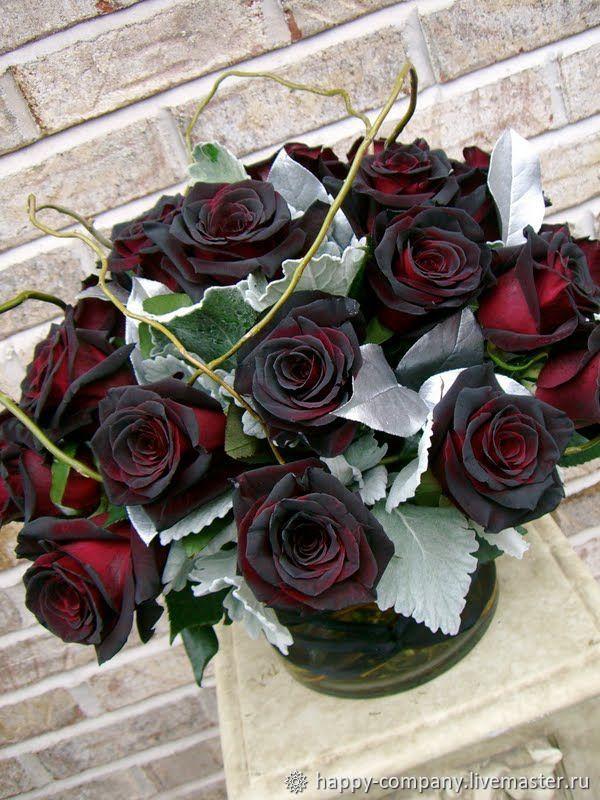 Открытка с днем рождения розы черный принц, день