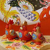 Куклы и игрушки ручной работы. Ярмарка Мастеров - ручная работа Петушки-свистульки. Handmade.