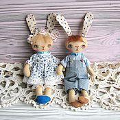 Куклы и игрушки ручной работы. Ярмарка Мастеров - ручная работа Зайчата Дотти и Билли. Handmade.