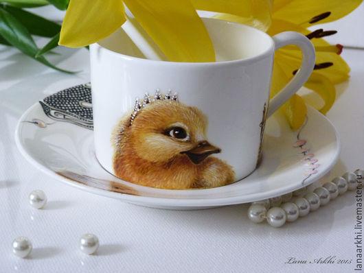 Сервизы, чайные пары ручной работы. Ярмарка Мастеров - ручная работа. Купить чашечка для маленькой принцессы. Ручная роспись. Персональный заказ.. Handmade.