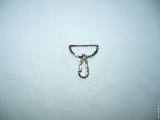 Шитье ручной работы. Ярмарка Мастеров - ручная работа. Купить Карабин,30х43, металлический карабин, цвет никель, для сумки. Handmade.