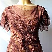 Одежда ручной работы. Ярмарка Мастеров - ручная работа Авторская блузка В тени античного сада. Handmade.