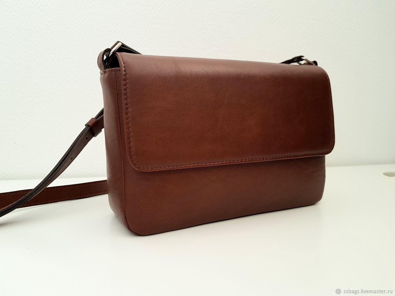 Handbag cross body, small chocolate handbag, Classic Bag, St. Petersburg,  Фото №1
