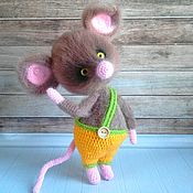 handmade. Livemaster - original item Mouse in yellow pants. Handmade.