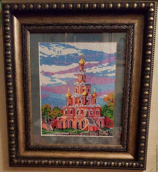 Город ручной работы. Ярмарка Мастеров - ручная работа. Купить Церковь в Филях. Handmade. Рыжий, вышивание, вышивание крестом