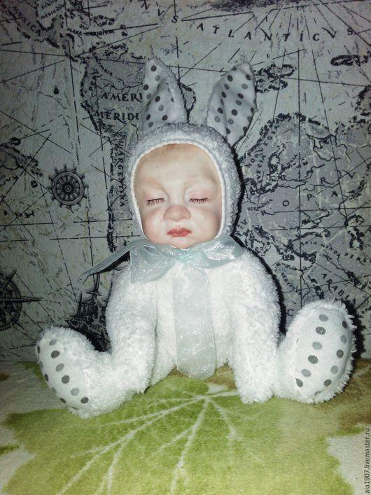 Куклы-младенцы и reborn ручной работы. Ярмарка Мастеров - ручная работа. Купить Кукла Тедди Долл Арсюша. Handmade. Белый