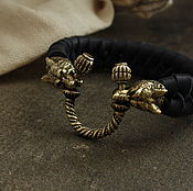 Украшения handmade. Livemaster - original item Bracelet from genuine leather ,valcke. Handmade.