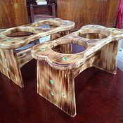 Кормушки для птиц ручной работы. Ярмарка Мастеров - ручная работа Подставка для мисок с кормом и водой. Handmade.