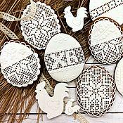 """Пряники ручной работы. Ярмарка Мастеров - ручная работа Пряники """"Пасхальное яйцо"""" архангельские расписные козули. Handmade."""