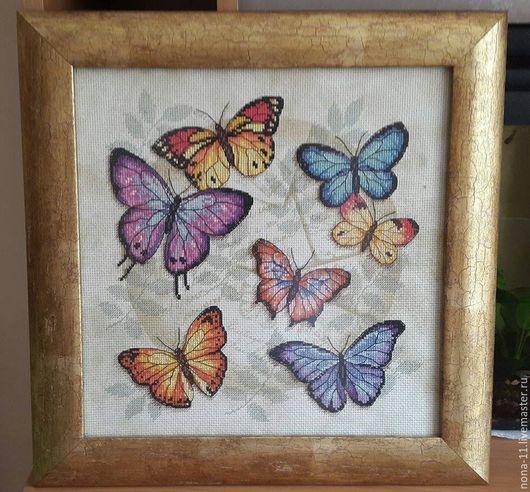 """Животные ручной работы. Ярмарка Мастеров - ручная работа. Купить Картина """"Бабочки"""". Handmade. Комбинированный, в подарок мужчине, метелики"""