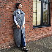 Одежда handmade. Livemaster - original item Grey vest knit Alpaca Il. Handmade.