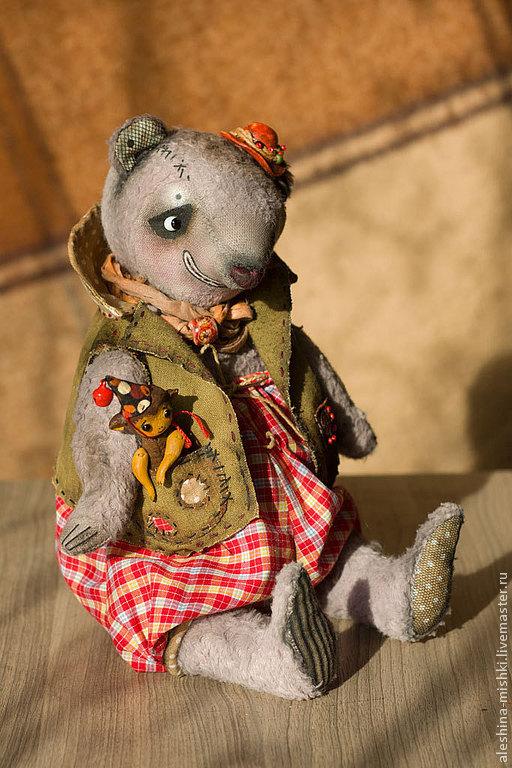 Мишки Тедди ручной работы. Ярмарка Мастеров - ручная работа. Купить Клоун Пьер и его маленький друг Тибо. Handmade.