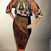 Одежда ручной работы. Ярмарка Мастеров - ручная работа Юбка из бархата. Handmade.