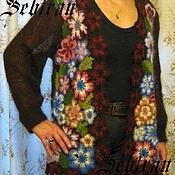 """Одежда ручной работы. Ярмарка Мастеров - ручная работа Кардиган  """"Цветочная полянка"""", авторская работа. Handmade."""