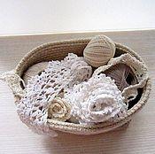 Для дома и интерьера ручной работы. Ярмарка Мастеров - ручная работа Корзинка верёвочная. Вязание крючком. Handmade.