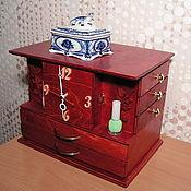 Для дома и интерьера ручной работы. Ярмарка Мастеров - ручная работа Шкатулка с часами. Handmade.