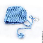 Работы для детей, manualidades. Livemaster - hecho a mano gorro para niñas, gorro, azul. Handmade.